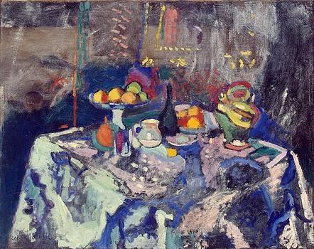 Vase Bottle and Fruit by Henri Matisse