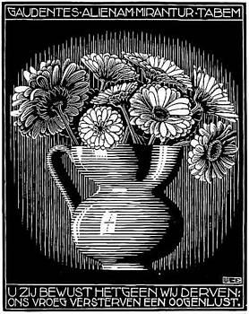 Vase by M C Escher
