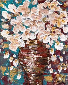 Vase of flowers by Noor Moghrabi