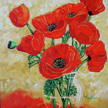 Vase of Red by Vickie Warner