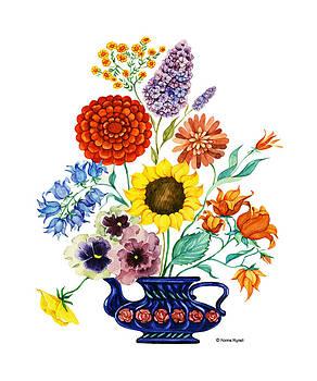 Vase with flowers by Nonna Mynatt