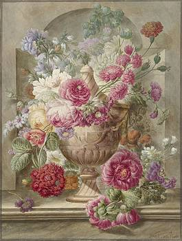 Pieter Van Loo - Vase With Flowers