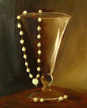 Vase with Pearls by Mary Lambert