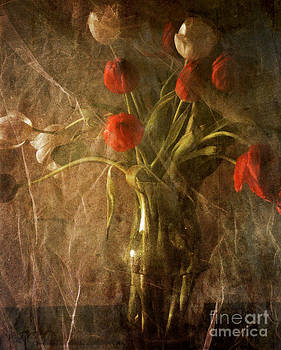 Vase with Tulips by Sharon Coty