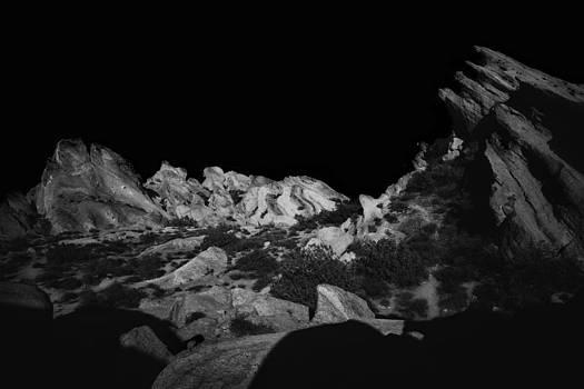 Vasquez Rocks in Black and White 001 by Lon Casler Bixby