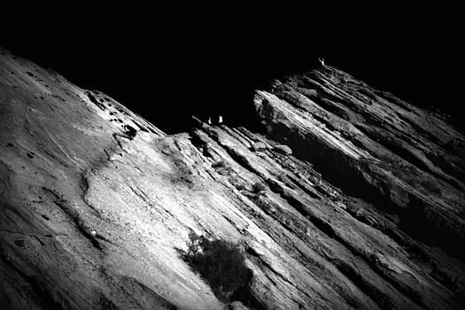 Vasquez Rocks in Black and White 002 by Lon Casler Bixby