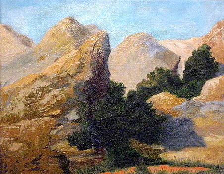 Vasquez Rocks View from the Road by Terry Sonntag