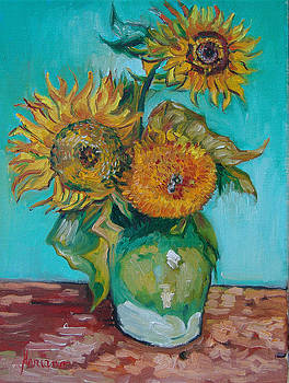 Vasr W/sunflower  by Mariano Zucchi