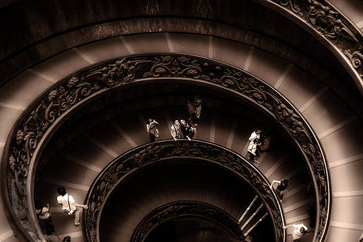 Vatican Museum Spiral Staircase by Rob Tullis