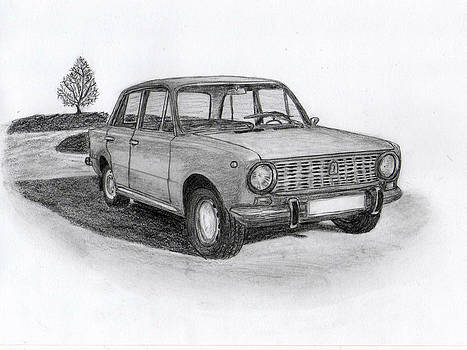VAZ-2101 car from the communism. by Kokas Art