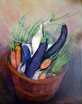 Vegetables in a Basket by Judie White