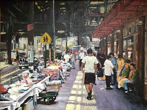 Vendors Along Broadway and Flushing by Victor SOTO