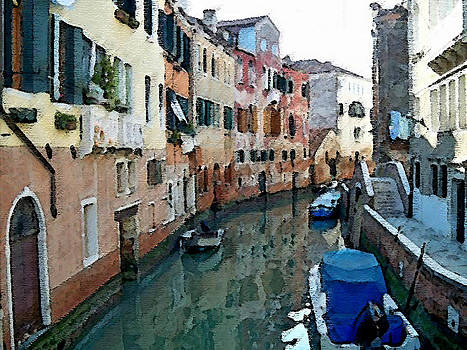 Venezia from the gondola by Piero Lucia