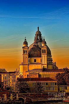 Venezia-Basilica of Santa Maria della Salute by Tom Prendergast