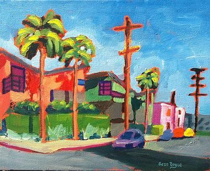 Venice Beach Back Streets Hampton Drive by Sean Boyce