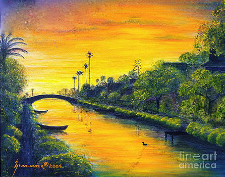 Venice California Canal by Jerome Stumphauzer