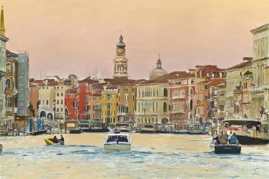 Venice in Pastel by John Hix