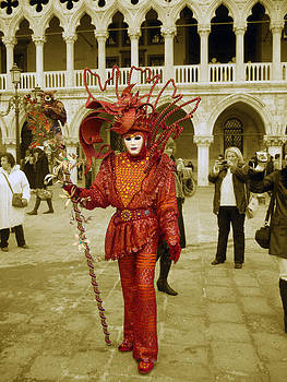 Venice Italy Carnival RedMan by Willie Chea