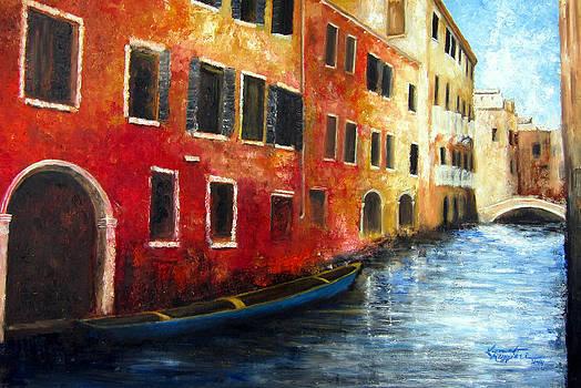 Venice Street Scape by Leonardo Ruggieri