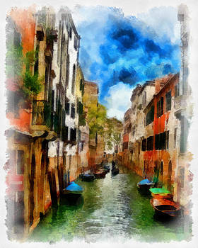 Venice Watercolor by Cary Shapiro