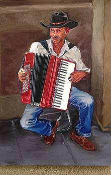 Venician Accordion Player by Vincenzo Gimigliano