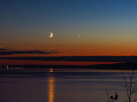 Venus and the Moon  by Michael Canfield