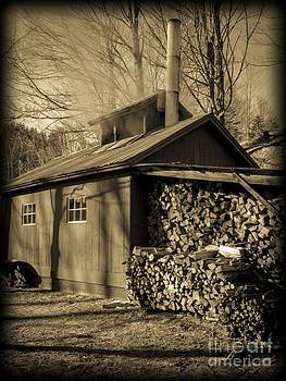Edward Fielding - Vermont Maple Sugar Shack circa 1954
