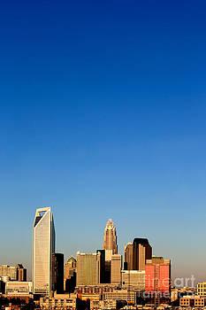 Vertical skyline Charlotte NC by Patrick Schneider