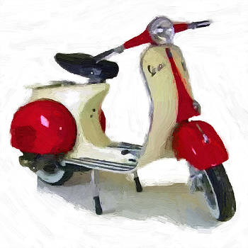 Vespa Black and Red by D Plinth