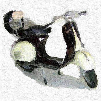 Vespa Black and white by D Plinth
