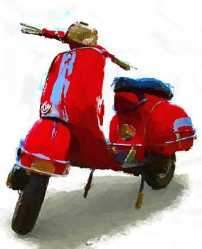 Vespa Red by D Plinth
