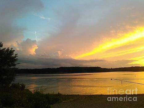 Vespers on Lithia Springs Beach at Sunset by J Anthony Shuff
