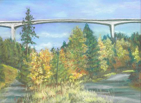 Veterans Memorial Bridge in Coeur d'Alene by Harriett Masterson