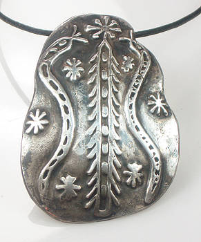 Veve Damballah Ritual Symbol for Courage and Bravery - Fine Silver Talisman by Vagabond Folk Art - Virginia Vivier