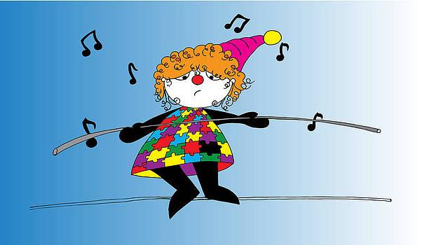 Via as a clown by Nicole Dixon