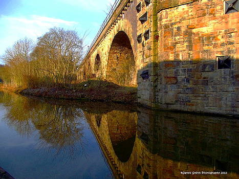 Viaduct Over The Canal by James Smith