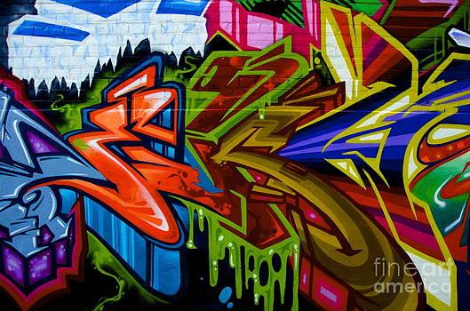 Vibrant Graffiti by Sarah Mullin