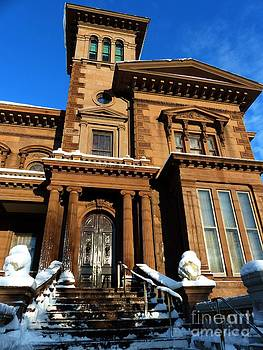 Christine Stack - Victoria Mansion with Snow in Portland Maine
