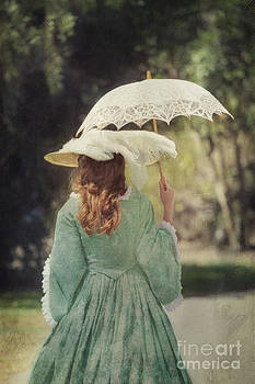 Susan Gary - Victorian Woman with Parasol I