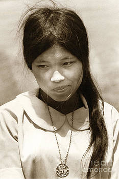 California Views Archives Mr Pat Hathaway Archives - Vietnamese girl with Buddhist cross  necklace  1968
