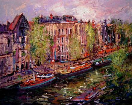 View from Nikki's room in Prinsengracht by R W Goetting