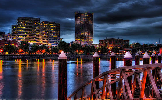 Thom Zehrfeld - Portland-View From The East Bank PDX