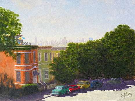 View from the park by Erno Saller
