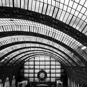 View from the top of Musee d'orsay old train station by Gianfranco Evangelista