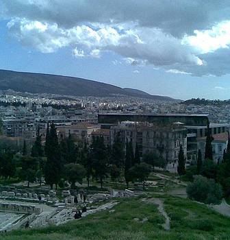 view from the top on Parthenon by Katerina Kostaki
