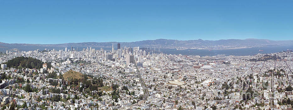 David Zanzinger - View from the Twin Peaks hills in San Francisco CA