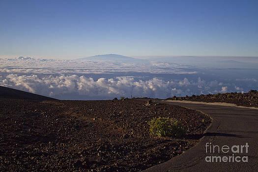 View of Big Island - Hawaii from the summit of Haleakala Maui Hawaii by Sharon Mau