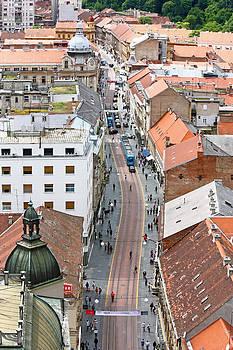 View of Ilica street Zagreb by Borislav Marinic