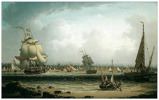 Robert Salmon - View of Liverpool
