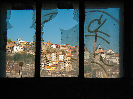 View of Porto through a young ruin by Alicia Garcia Monedero